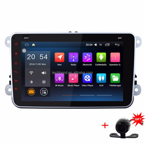 7'' Universal Quad Core 1024*600 16G Car 2 Din Android 6.0.1 GPS Radio Stereo Navigation Dash Video Player