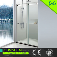 SUS 304 stainless steel and tempered glass shower rooms in low price
