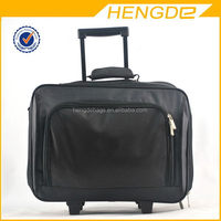 2015 Black Nylon Business Trolley Laptop Bag