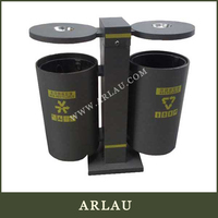 Metal Commercial Garbage Bin Outdoor Classified