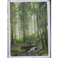Forest landscape painting for wall decoration