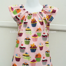 2017 kids frock designs pictures hot patterns cupcake summer dress cupcake 100% cotton kids casual wear