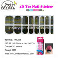 16pcs Fashionable Toe Nail Stickers Professional Salon Pedicure Products