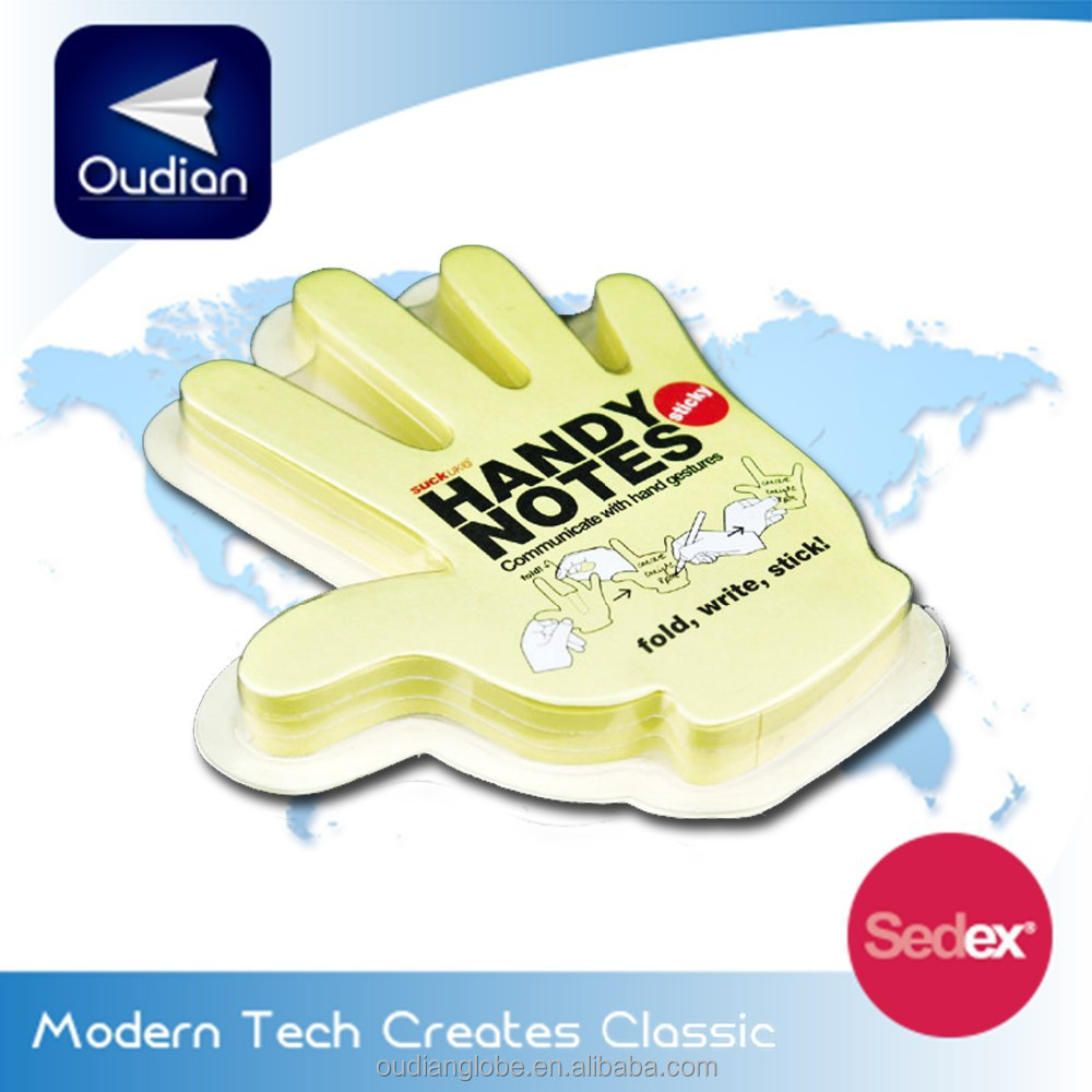 OEM Promotional Die cut Hand shape Sticky pad note