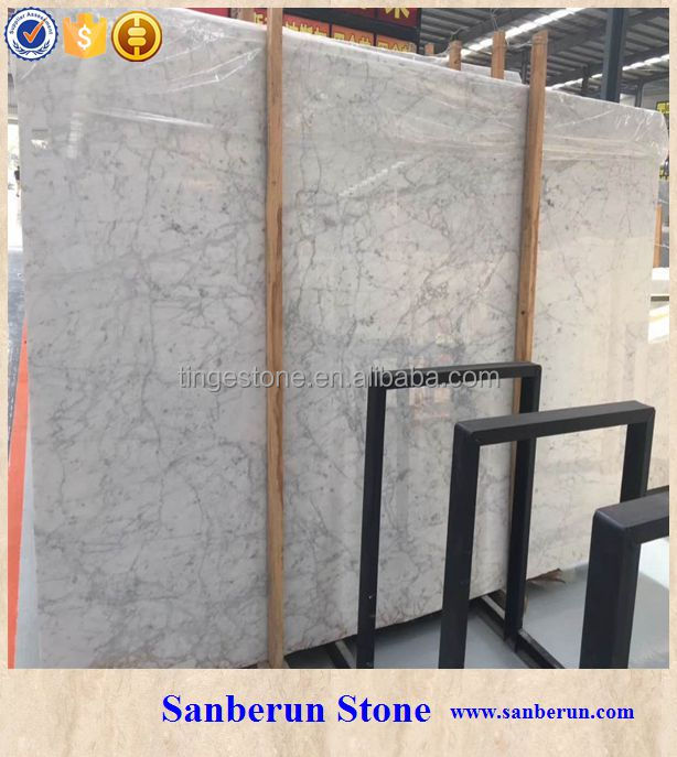 Hot sale Italy Carrara white marble stone for table top