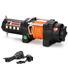 12V 3500lbs fast line speed electric winch with synthetic rope