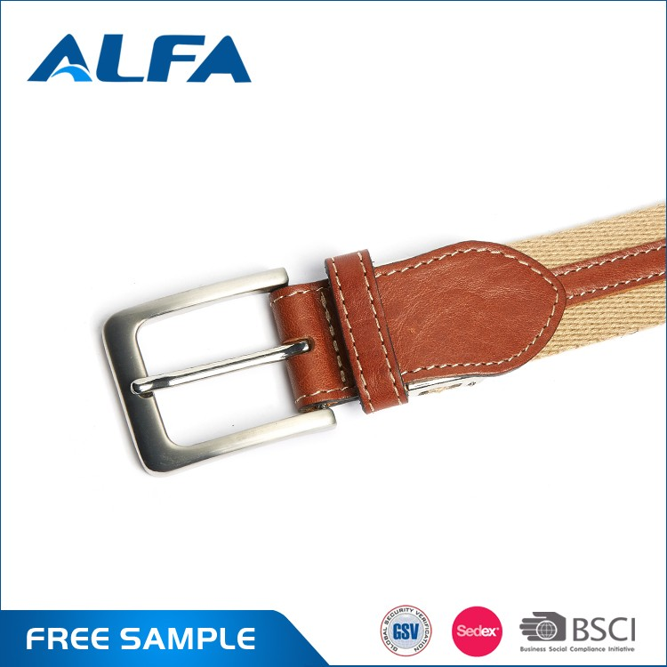 Alfa Best Seller Casual Colorful Polyester Cotton Canvas Belts By Custom