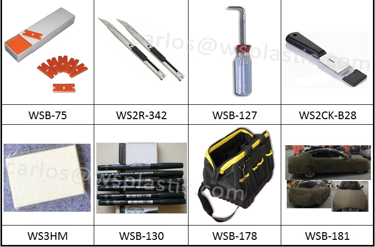 car window tint film tools