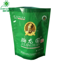 standing up tea bag packaging material/ food grade tea packing bag with small window