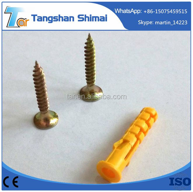 Top quality with bottom price plastic nylon hammer drive nail anchor NYLON Material Knot anchor and all size Plastic wall plug