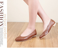 Guangzhou shoes manufacture oem women flat shoes 2015 women big bow flats shoes