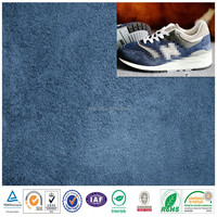 100% Polyester man' casual shoes fabric /faux suede