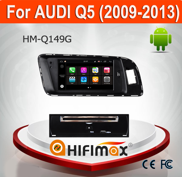 Hifimax Andriod 7.1 car dvd gps For AUDI Q5 navigation touch (2009-2013) with QUAD CORE 1080P WIFI 2G RAM INTERNET DVR