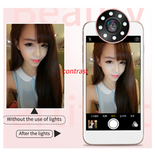 Smartphone rechargeable selfie ring light for taking photo/ video