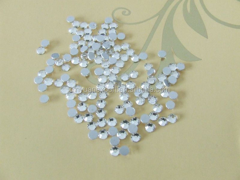 1.5MM to16MM wholesale acrylic rhinestone trimming/non hot fix stone