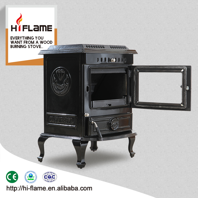 2016 Mordern burning stove and real fire fireplace with one glass door HF446E