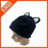 Wholesale knitted custom 100 polyester cat ear hat