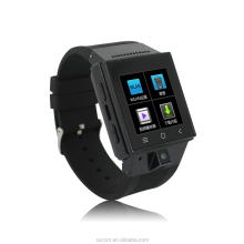 MTK6572 dual core android 4.4 3G WiFi sim card smart watch phone with GPS FM radio MP3 MP4