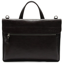 CSB259-001 High class men tote bags elegance leather briefcase zipper portfolio with handle
