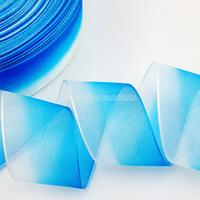 Wholesale Gradient 100% Silk Transparent Organza Ribbon