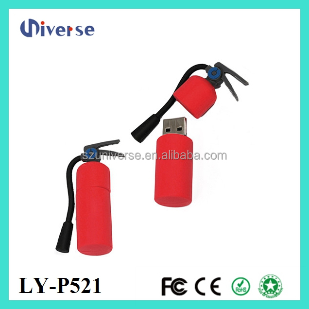 2016 Fire extinguisher shape portable pen drive player 200gb usb flash drive