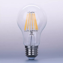 2017 hot sale LED filament 4W 6W 8W E26 E27 B22 dimmable led filament bulb light with TUV CE ROHS UL