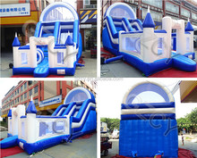 Summer entetainment used inflatable water slide with bouncy castle