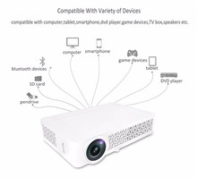 Smart Version Wifi Android Home Theater Mini Projectors DLP800W 500 ANSI Lumens Contrast 10000:1 Made by HTP