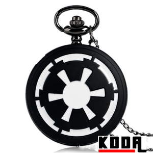 Japan movt quartz pocket watch japan movt White and black Car wheeling Pocket watch Gun black