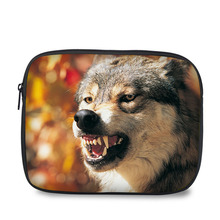 Fashion universal wolf design shockproof tablet case portable laptop sleeve bag for 10.1 inch