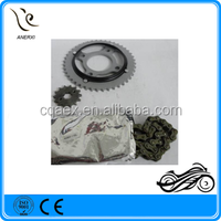 Factory Price Motorcycle Chain And Sprocket Kit 428H-116L 44Z-14Z For 1045 Steel HONDA TITAN 2000