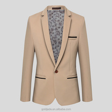 2016 new arrival mens pinstripe notch lapel fasion suits slim cut two vents suit fancy blazer for mens