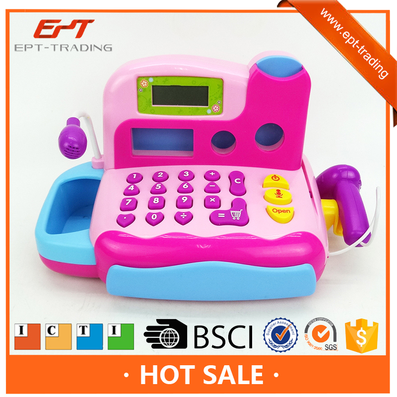Kids Play Electronic Toy Automatic Cash Register For Sale