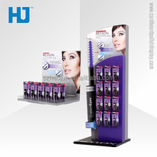 Good quality paper hanging display,cardboard counter hook display stand revlon for cosmetics in store