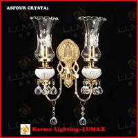 Crystal wall light sconces italian style W-766-2L