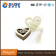laser cutting heart shape wooden craft for christmas decoration