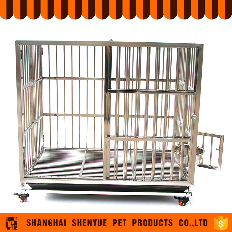 2017 Wholesale Folding Metal Stainless Steel Dog Crate