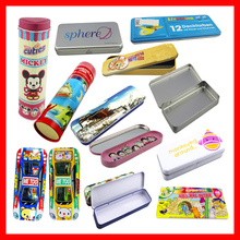 Tin pencil case for teenagers