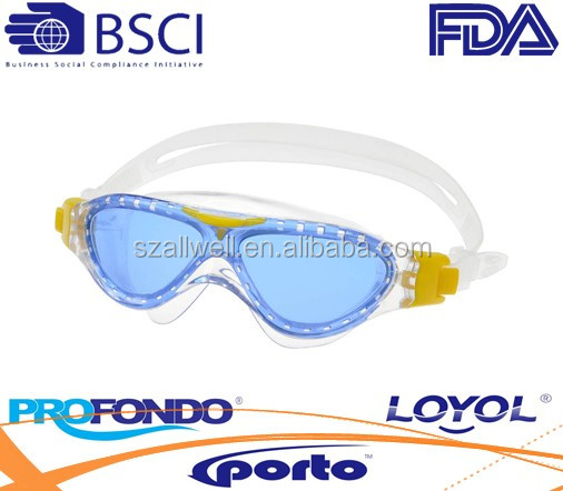 liquid silicone swimming goggle for kids with quickadjust system