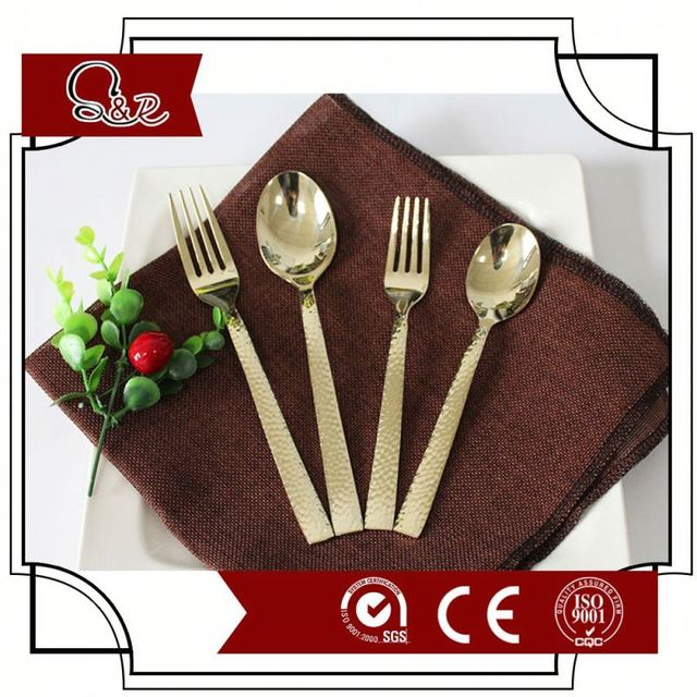 biodegradable cutlery hollow out design CPLA durable 18/0 metal spoon and fork, knife,kids durable 18/0 metal cutlery