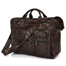 Highest Quality Hot Sale Top Grade Vintage Style Multifunctional Men's Handmade Laptop Leather Bag#7093Q