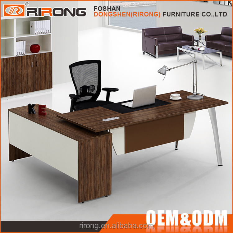 Modern Office Furniture Product ~ Modern home office furniture desk leather melamine wooden