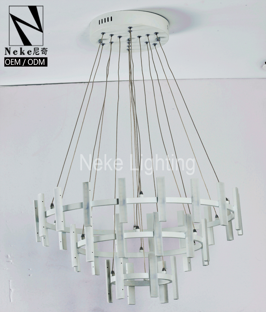Zhongshan good service mental wire large hotel chandelier