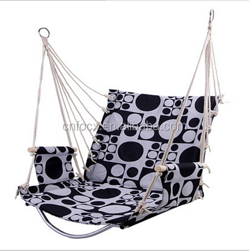 Cotton Colorful Indoor Hanging Hammock Swing Chair,hanging chair with armrest