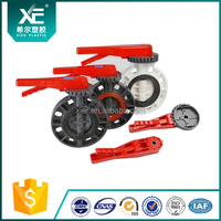 """XE"" PVC Plastic Butterfly Valve Lever Type"