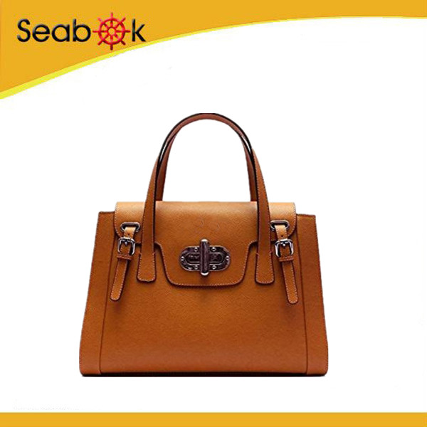 luxury leather business hand bag classical europe style women handbag lady PU leather designer hand bag