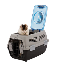 Portable Two Door Top Load Kennel / Pet Plastic Carrier Crate for Small Animals