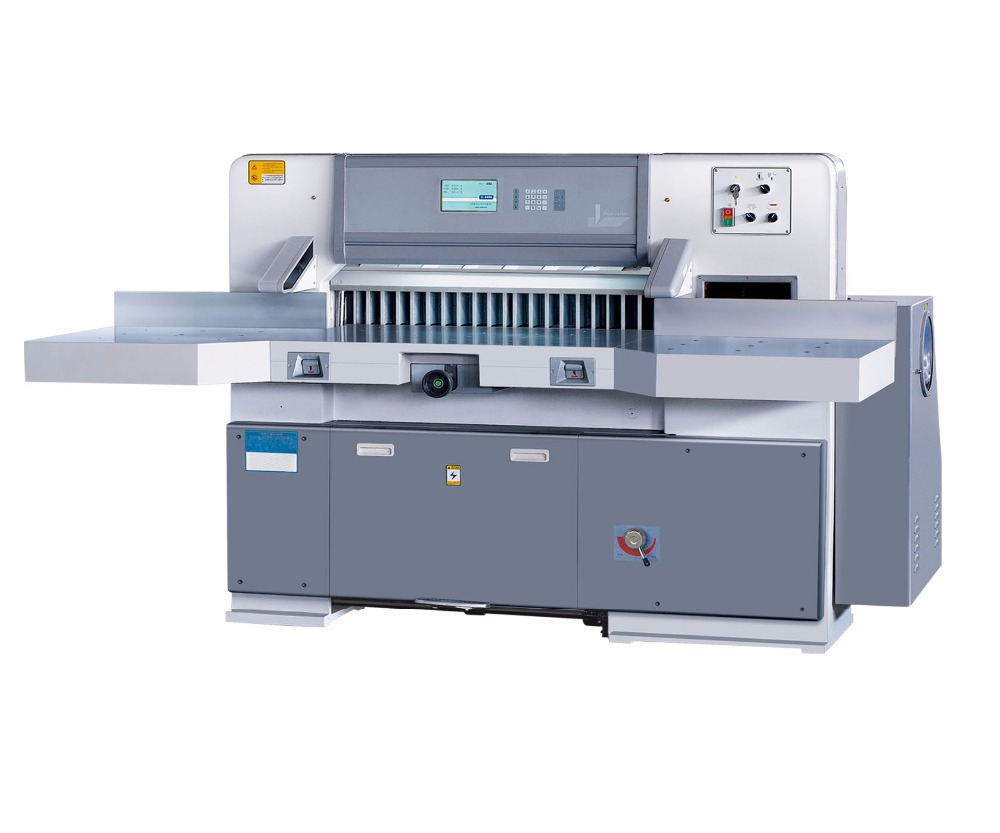 Automatic electric paper cutter machine with 10inch touch screen computer