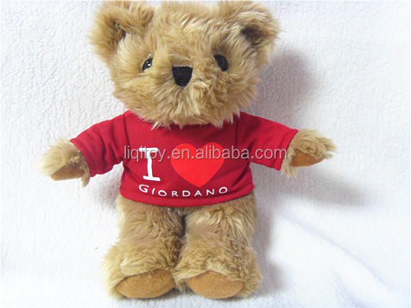 2019 hot sale cute plush teddy bear with a t-shirt
