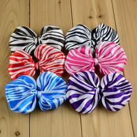 Fashion Baby Girl animal Printed Zebra leopard Hair bow for crochet headbands